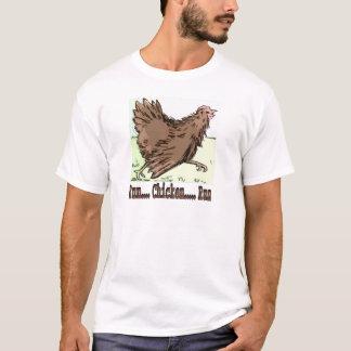 T-shirt Courez la course de poulet