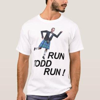 T-shirt Courez la course de Todd