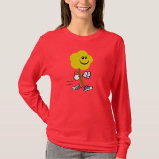 T-shirt Courez la fleur courante courue par fleuriste