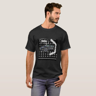 T-shirt Courez le tigre de vitesse de voiture