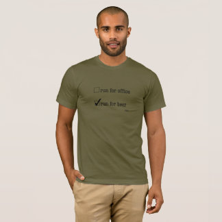 T-shirt Courez pour la pièce en t de bière