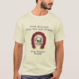 T-shirt Courez pour le rôti 2008 de porc de roses