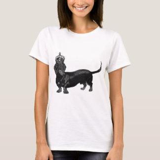 T-shirt Couronne belle de teckel de chien royale