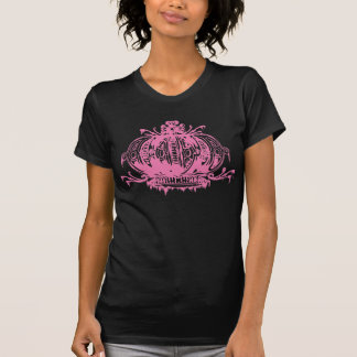 T-shirt Couronne délabrée par Lolita gothique rose