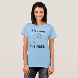 T-shirt Courra pour des fritures avec les fritures
