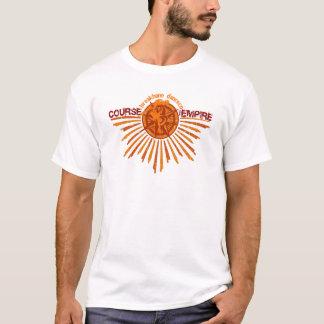 T-shirt Cours de pièce en t affligée par empire - mousse