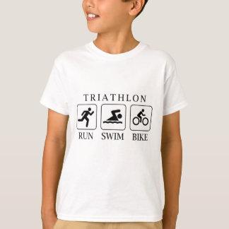 T-shirt Course, bain et vélo de triathlon