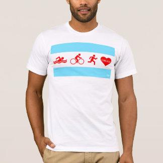 T-shirt Course Chicago de vélo de bain