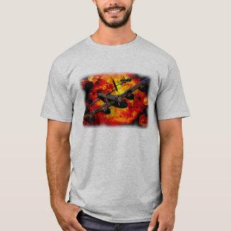T-shirt Course de bombardement de bombardier de Lancaster