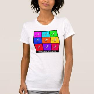 T-shirt Courses avec des ciseaux