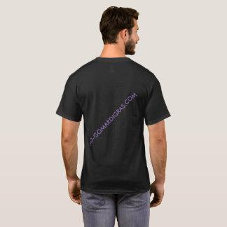 T-shirt court de WEB de MARDI GRAS de SleeveBLACK