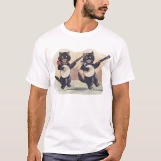 T-shirt court foncé de douille d'enfant en bas âge