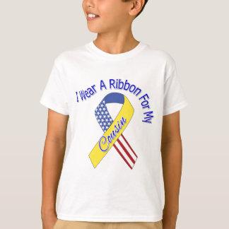 T-shirt Cousin - je porte un patriotique militaire de