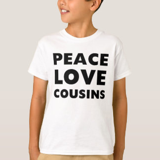 T-shirt Cousins d'amour de paix