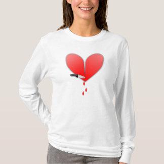 T-shirt Couteau au coeur