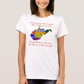T-shirt Coutume de chemise de la Virginie Occidentale avec