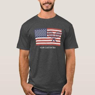 T-shirt Coutume de drapeau américain des Etats-Unis de cru