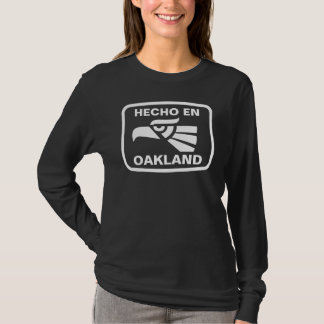 T-shirt Coutume de personalizado d'en Oakland de Hecho