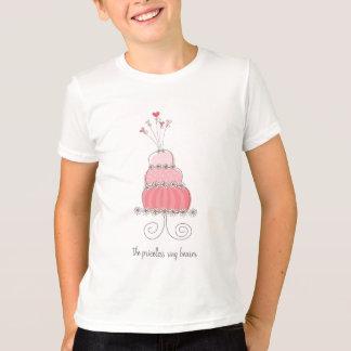 T-shirt Coutume rose d'amusement de gâteau de mariage