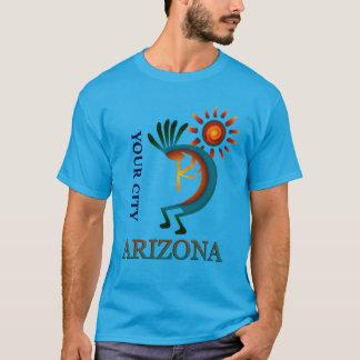 T-shirt Coutume votre ville Arizona Kokopelli avec Sun