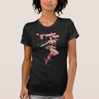 T-shirt Couverture comique de femme de merveille