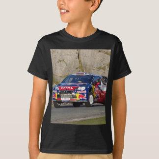 T-shirt Couverture de voiture de rassemblement de WRC