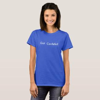 T-shirt Covfefe obtenu ?  texte blanc pour les chemises