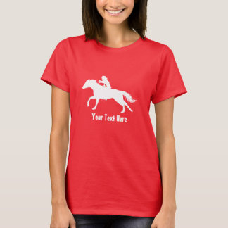 T-shirt Cow-girl de rodéo (casque de port) à cheval