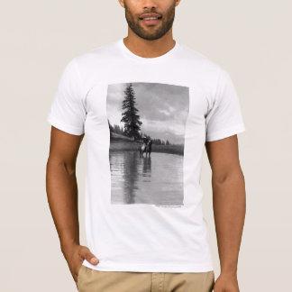 T-shirt Cowboy dans un étang