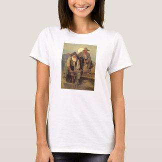 T-shirt Cowboys vintages, l'étape de salaire par OR Wyeth