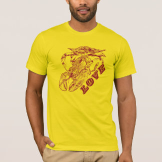 "T-shirt ""Crabe, homard, amour."" - Hommes"