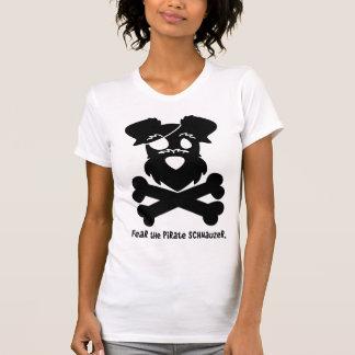 T-shirt Craignez le Schnauzer de pirate