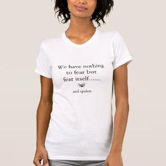 T-shirt Crainte d'araignée comique de bande dessinée