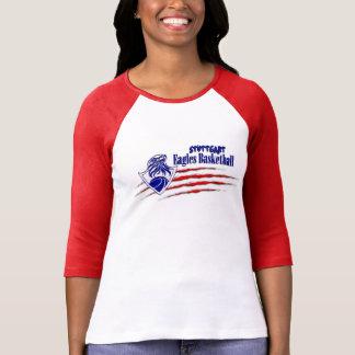 T-shirt Crainte de Stuttgart Eagles Madame 3/4 douille T