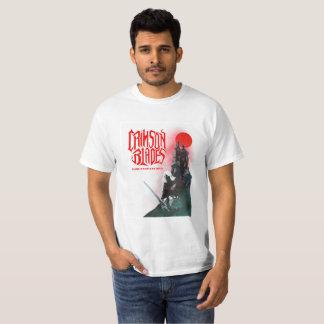 T-shirt cramoisi de lames