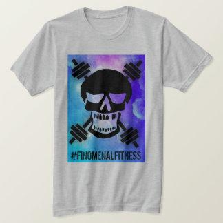 T-shirt Crâne abstrait d'haltère
