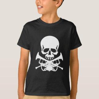 T-shirt Crâne avec des trompettes comme os croisés