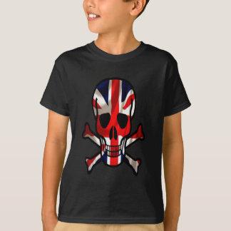 T-shirt Crâne britannique et os croisés