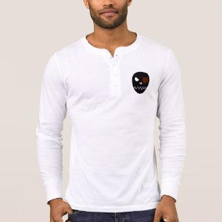 T-shirt Crâne - chemise de douille de Henley de la toile
