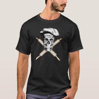 T-shirt Crâne de Baker et goupilles : Blanc