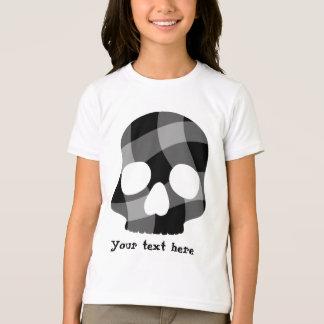 T-shirt Crâne de guingan tordu par punk pour des enfants