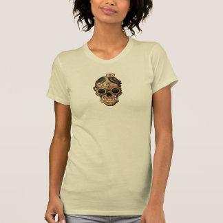 T-shirt Crâne de Steampunk avec des lunettes
