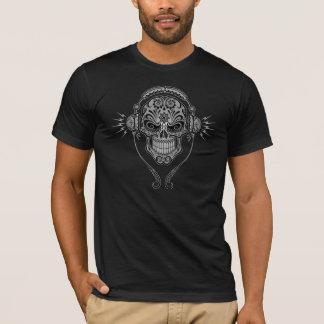T-shirt Crâne de sucre du DJ - noir