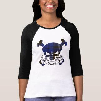 T-shirt Crâne de tartan de cygne
