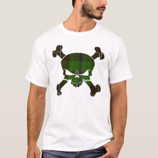 T-shirt Crâne de tartan de Douglas aucune chemise de
