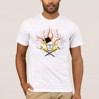 T-shirt Crâne de Tiki avec la chemise de flammes