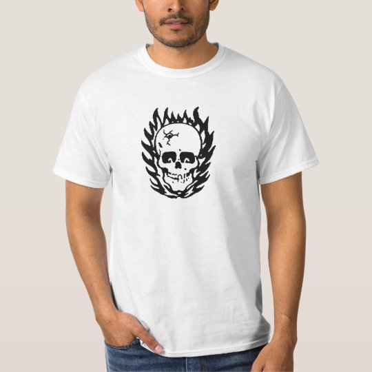 T-shirt Crâne En Feu / Skull on fire