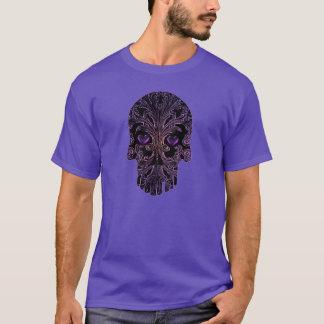 T-shirt Crâne en filigrane aux nuances du pourpre