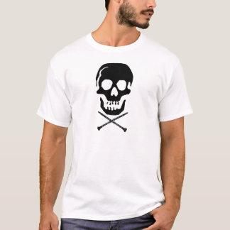 T-shirt Crâne et clarinettes - noir sur le blanc