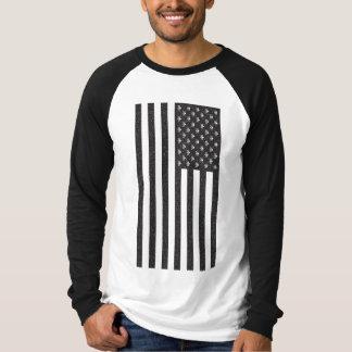 T-shirt Crâne et drapeau américain d'os croisés